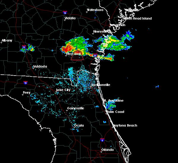 Radar Image for Severe Thunderstorms near Nahunta, GA at 6/19/2020 10:56 PM EDT