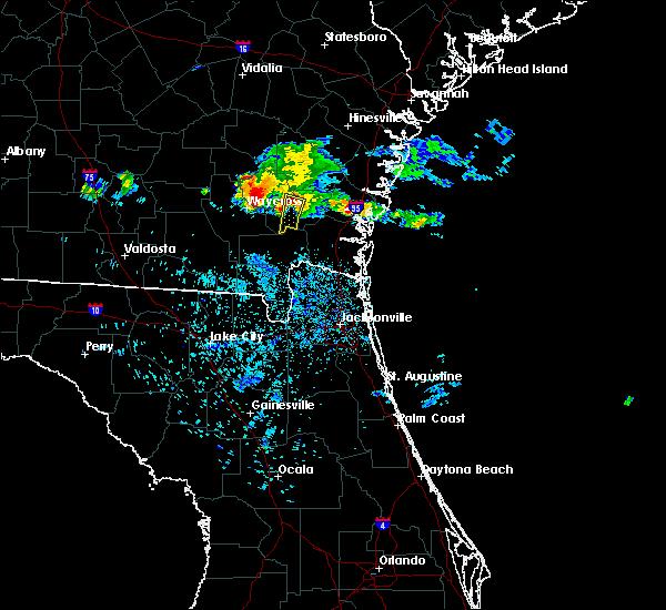 Radar Image for Severe Thunderstorms near Nahunta, GA at 6/19/2020 11:13 PM EDT