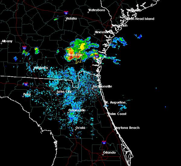Radar Image for Severe Thunderstorms near Nahunta, GA at 6/19/2020 11:31 PM EDT
