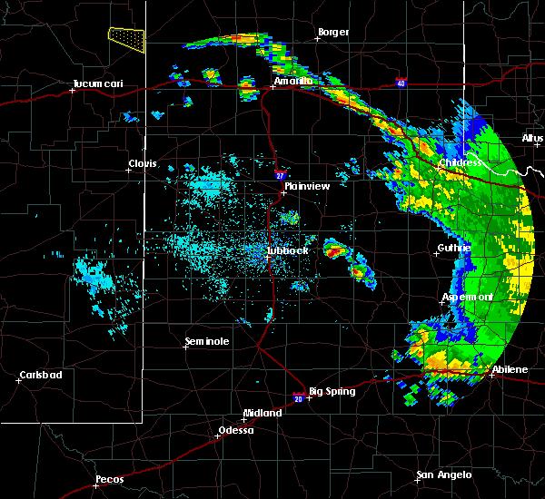 Radar Image for Severe Thunderstorms near Crosbyton, TX at 6/20/2020 12:48 AM CDT