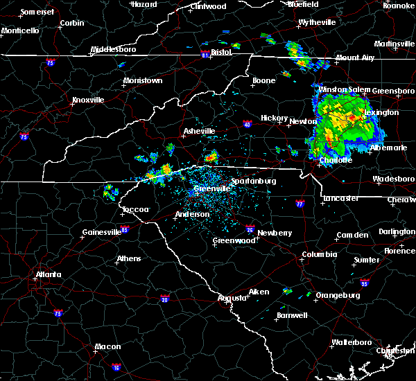 Radar Image for Severe Thunderstorms near Tryon, NC at 6/20/2020 2:34 PM EDT