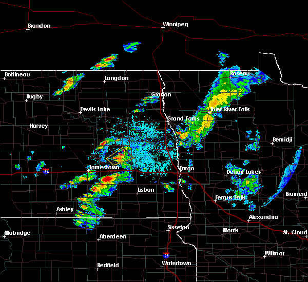 Radar Image for Severe Thunderstorms near Sutton, ND at 6/20/2020 1:43 PM CDT