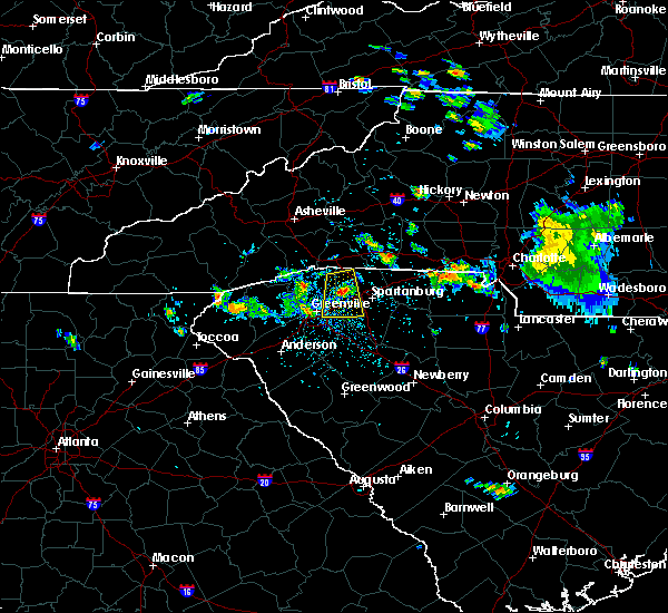 Radar Image for Severe Thunderstorms near Taylors, SC at 6/20/2020 3:36 PM EDT