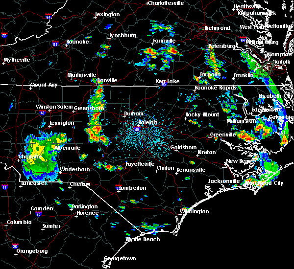 Radar Image for Severe Thunderstorms near Sanford, NC at 6/20/2020 3:41 PM EDT