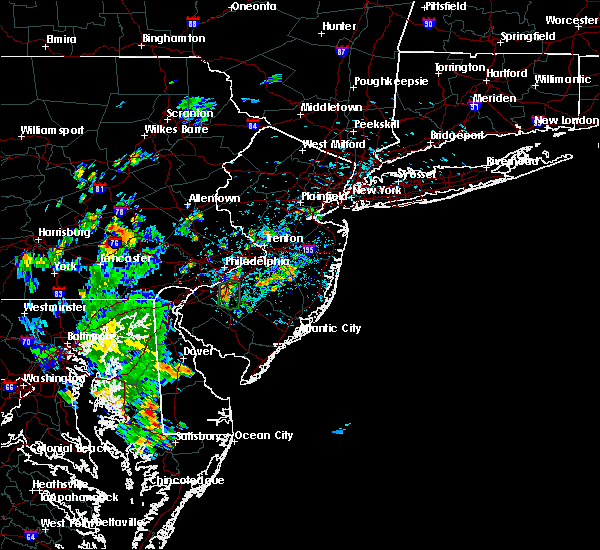 Radar Image for Severe Thunderstorms near Burlington, NJ at 6/20/2020 3:46 PM EDT