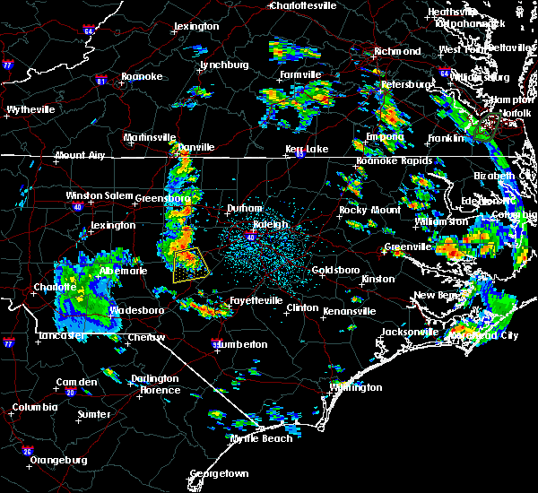 Radar Image for Severe Thunderstorms near Sanford, NC at 6/20/2020 3:59 PM EDT