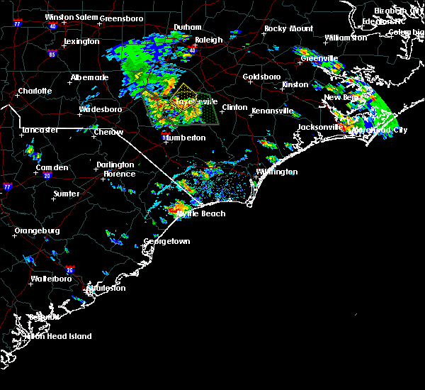 Radar Image for Severe Thunderstorms near Conway, SC at 6/20/2020 5:18 PM EDT