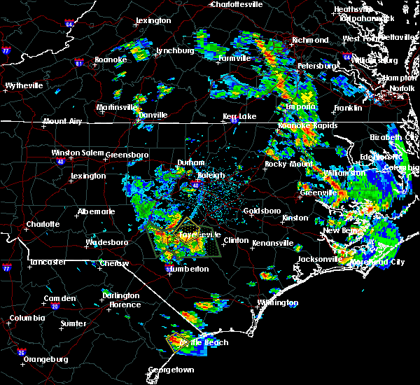 Radar Image for Severe Thunderstorms near Eastover, NC at 6/20/2020 5:21 PM EDT