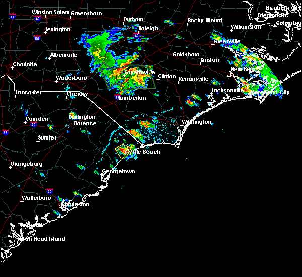 Radar Image for Severe Thunderstorms near Conway, SC at 6/20/2020 5:34 PM EDT