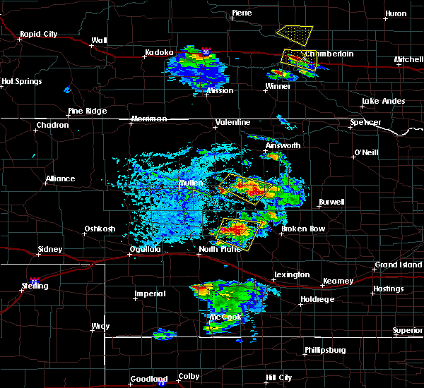 Radar Image for Severe Thunderstorms near Arnold, NE at 6/20/2020 5:51 PM CDT