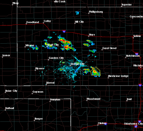 Radar Image for Severe Thunderstorms near Haviland, KS at 6/20/2020 6:07 PM CDT