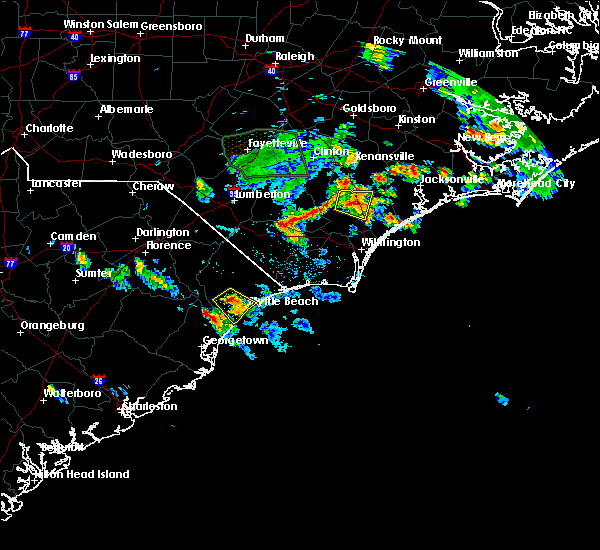 Radar Image for Severe Thunderstorms near Murrells Inlet, SC at 6/20/2020 7:08 PM EDT