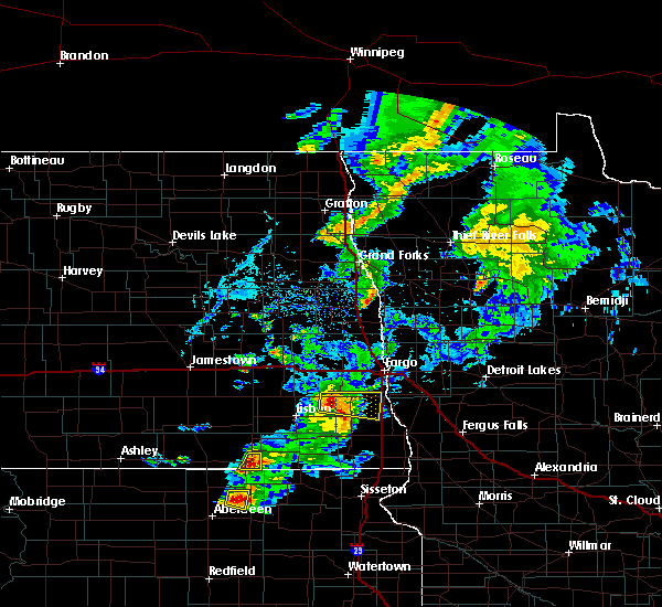 Radar Image for Severe Thunderstorms near Colfax, ND at 6/20/2020 6:19 PM CDT