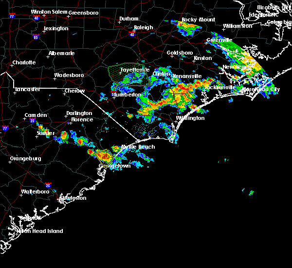 Radar Image for Severe Thunderstorms near Murrells Inlet, SC at 6/20/2020 7:26 PM EDT