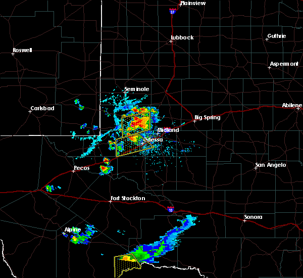 Radar Image for Severe Thunderstorms near Goldsmith, TX at 6/20/2020 6:31 PM CDT