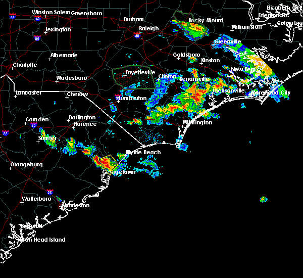 Radar Image for Severe Thunderstorms near Murrells Inlet, SC at 6/20/2020 7:47 PM EDT