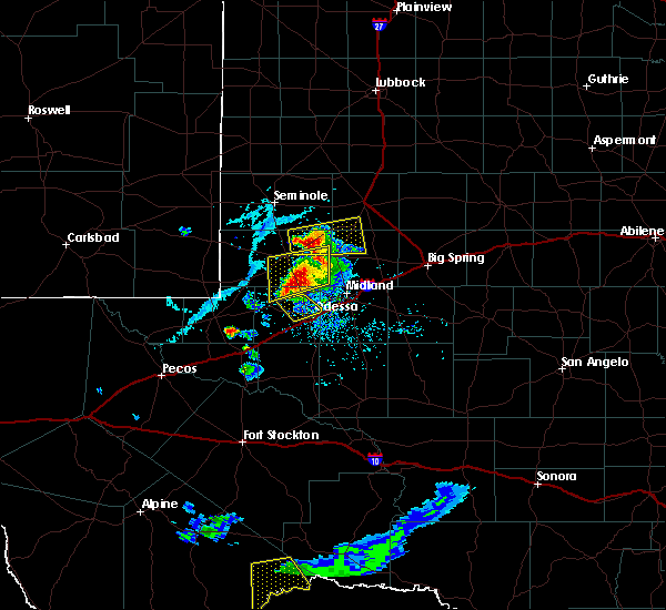 Radar Image for Severe Thunderstorms near Goldsmith, TX at 6/20/2020 6:57 PM CDT