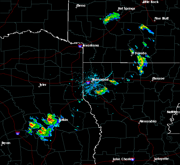 Radar Image for Severe Thunderstorms near Nacogdoches, TX at 6/20/2020 7:01 PM CDT