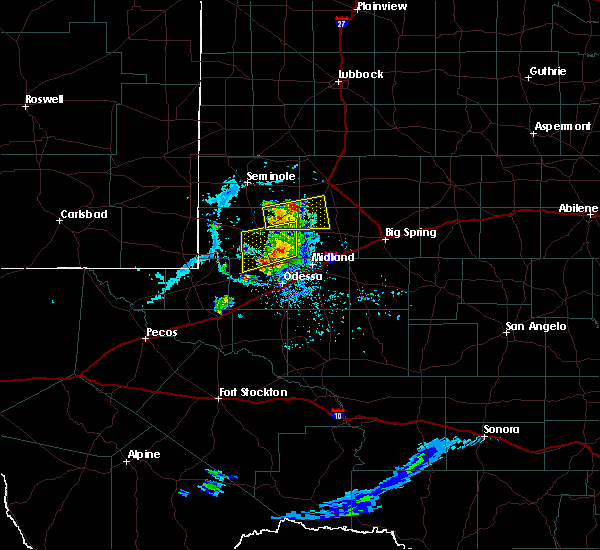 Radar Image for Severe Thunderstorms near Odessa, TX at 6/20/2020 7:20 PM CDT