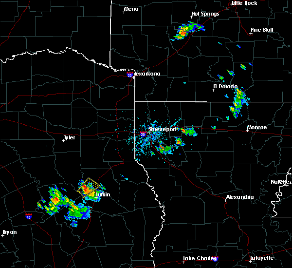 Radar Image for Severe Thunderstorms near Nacogdoches, TX at 6/20/2020 7:23 PM CDT