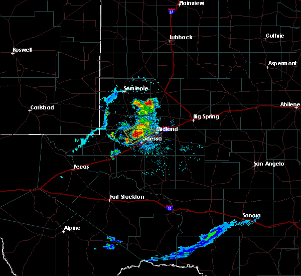 Radar Image for Severe Thunderstorms near Odessa, TX at 6/20/2020 7:30 PM CDT