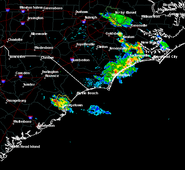 Radar Image for Severe Thunderstorms near Murrells Inlet, SC at 6/20/2020 8:38 PM EDT