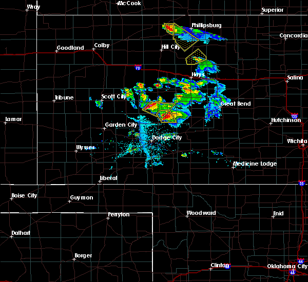 Radar Image for Severe Thunderstorms near Hanston, KS at 6/20/2020 8:31 PM CDT