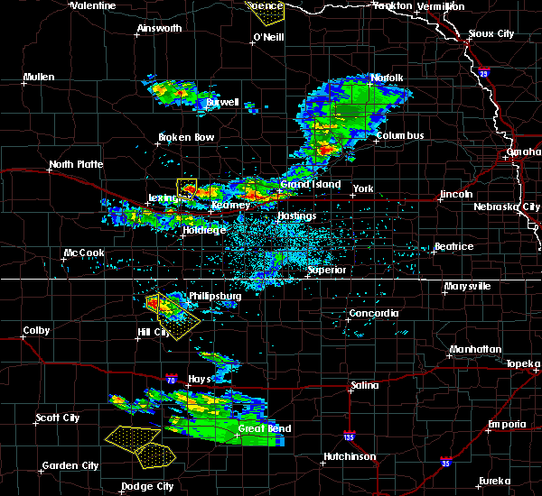 Radar Image for Severe Thunderstorms near Logan, KS at 6/20/2020 8:43 PM CDT