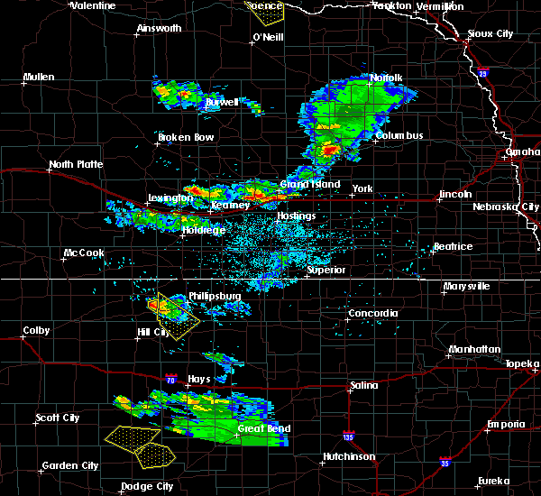Radar Image for Severe Thunderstorms near Wood River, NE at 6/20/2020 8:51 PM CDT