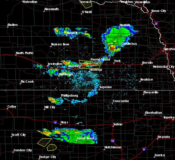 Radar Image for Severe Thunderstorms near Wood River, NE at 6/20/2020 9:09 PM CDT