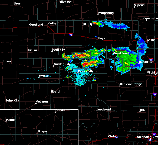 Radar Image for Severe Thunderstorms near Spearville, KS at 6/20/2020 9:54 PM CDT