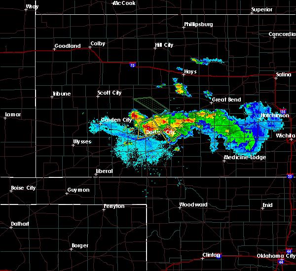 Radar Image for Severe Thunderstorms near Wright, KS at 6/20/2020 11:09 PM CDT