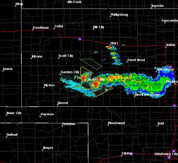 Radar Image for Severe Thunderstorms near Wright, KS at 6/20/2020 11:51 PM CDT