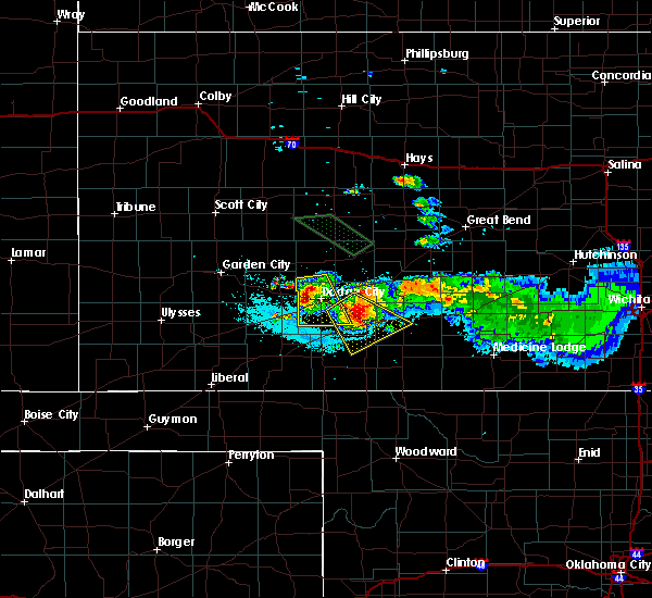 Radar Image for Severe Thunderstorms near Wright, KS at 6/21/2020 12:07 AM CDT