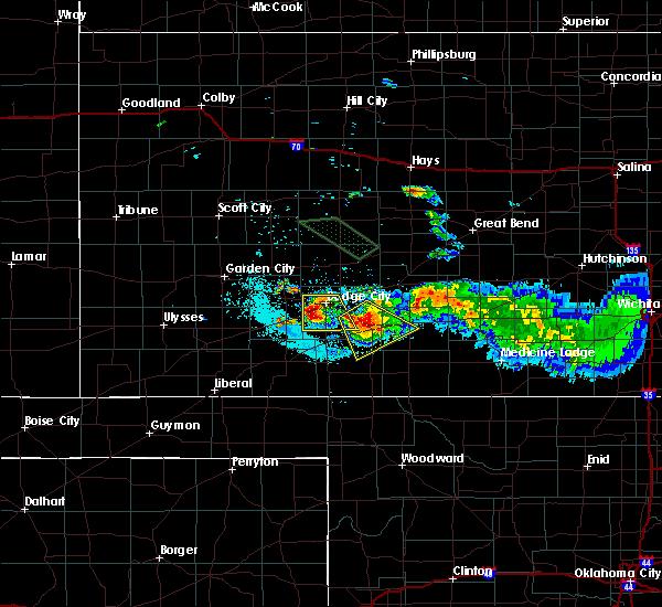 Radar Image for Severe Thunderstorms near Wright, KS at 6/21/2020 12:18 AM CDT