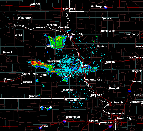 Radar Image for Severe Thunderstorms near Clarks, NE at 6/21/2020 12:38 AM CDT