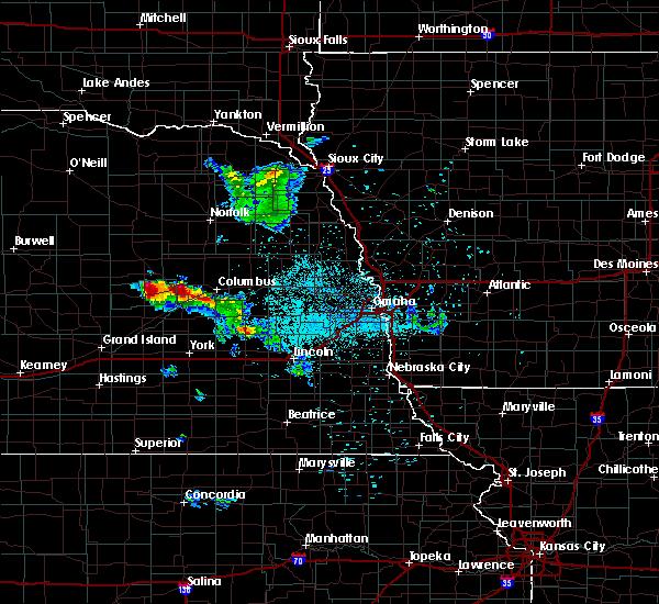 Radar Image for Severe Thunderstorms near Monroe, NE at 6/21/2020 12:38 AM CDT