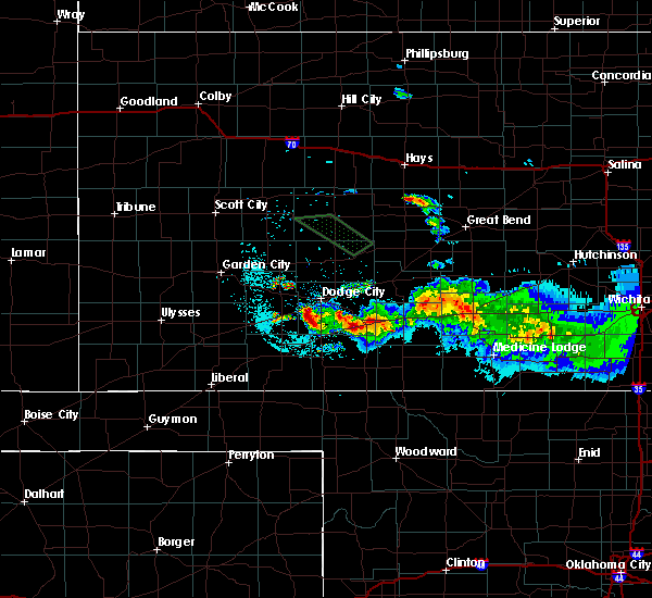 Radar Image for Severe Thunderstorms near Wilmore, KS at 6/21/2020 12:39 AM CDT