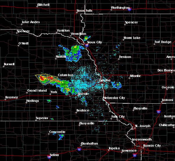 Radar Image for Severe Thunderstorms near Monroe, NE at 6/21/2020 12:50 AM CDT