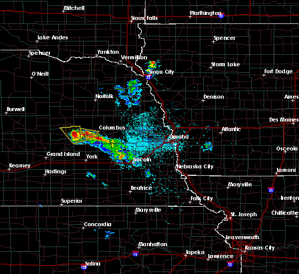 Radar Image for Severe Thunderstorms near Clarks, NE at 6/21/2020 1:03 AM CDT