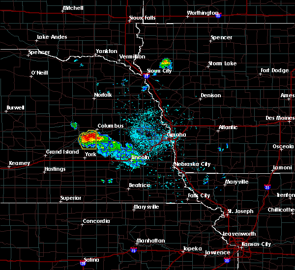 Radar Image for Severe Thunderstorms near Silver Creek, NE at 6/21/2020 1:35 AM CDT