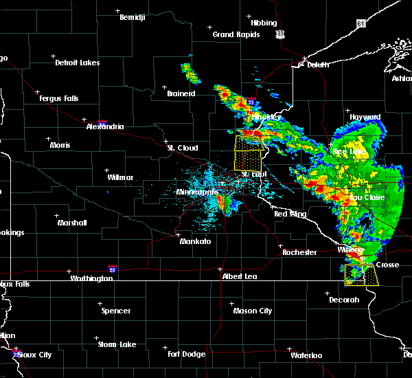 Radar Image for Severe Thunderstorms near Chisago City, MN at 6/29/2015 5:40 PM CDT