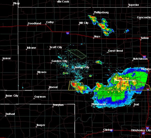 Radar Image for Severe Thunderstorms near Ashland, KS at 6/21/2020 2:14 AM CDT