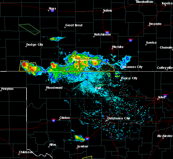 Radar Image for Severe Thunderstorms near Mayfield, KS at 6/21/2020 2:14 AM CDT