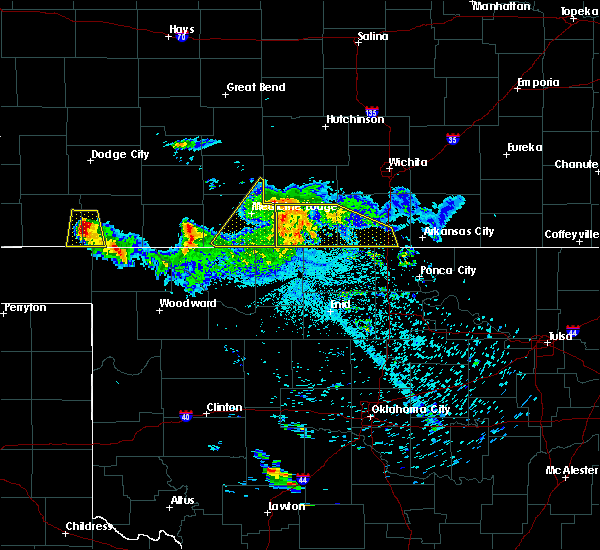 Radar Image for Severe Thunderstorms near Bluff City, KS at 6/21/2020 2:28 AM CDT