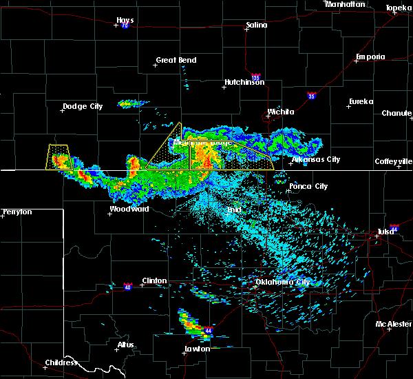 Radar Image for Severe Thunderstorms near Sharon, KS at 6/21/2020 2:39 AM CDT