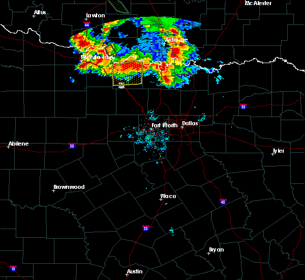 Radar Image for Severe Thunderstorms near Bowie, TX at 6/21/2020 6:07 AM CDT