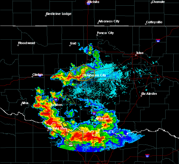 Radar Image for Severe Thunderstorms near Forest Park, OK at 6/21/2020 6:43 AM CDT