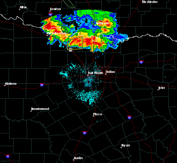 Radar Image for Severe Thunderstorms near Bowie, TX at 6/21/2020 6:44 AM CDT