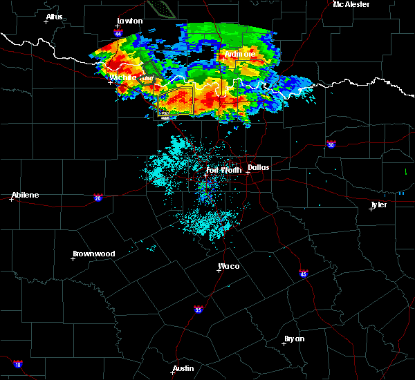 Radar Image for Severe Thunderstorms near Bowie, TX at 6/21/2020 6:57 AM CDT